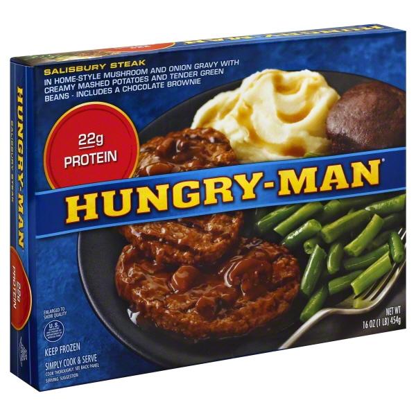 Swanson Hungry Man Salisbury Steak 16 Oz - GJ Curbside